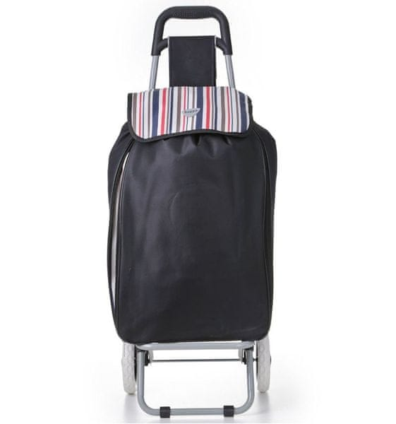REAbags Nákupní taška na kolečkách HOPPA ST-90 - černá