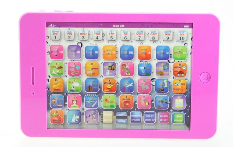 MaDe Dětský tablet, česko-anglický růžový