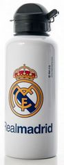 FC Real Madrid plastenka, bela z grbom, 400 ml