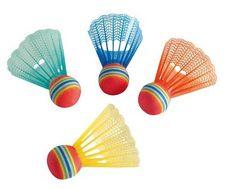 Hudora badminton žogice Fun, barvne