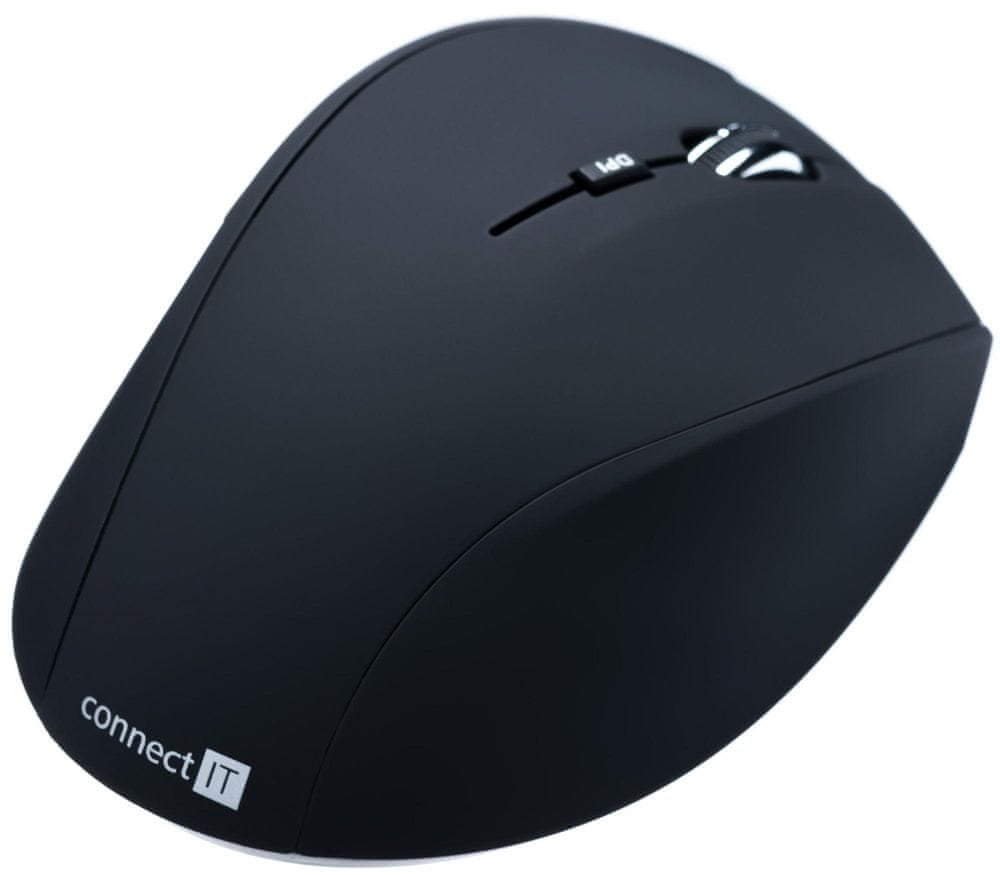 Connect IT CI-61 bezdrátová optická myš, černá matná