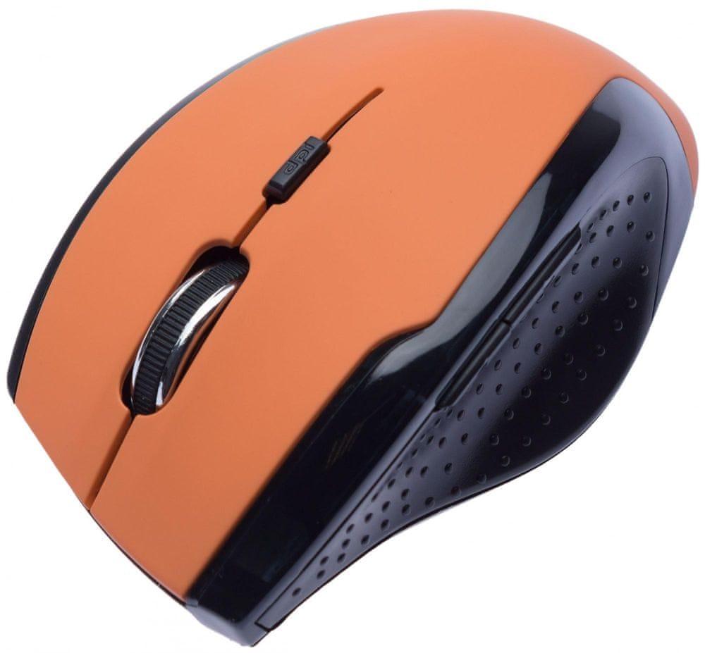 Connect IT CI-157 bezdrátová optická myš, oranžová