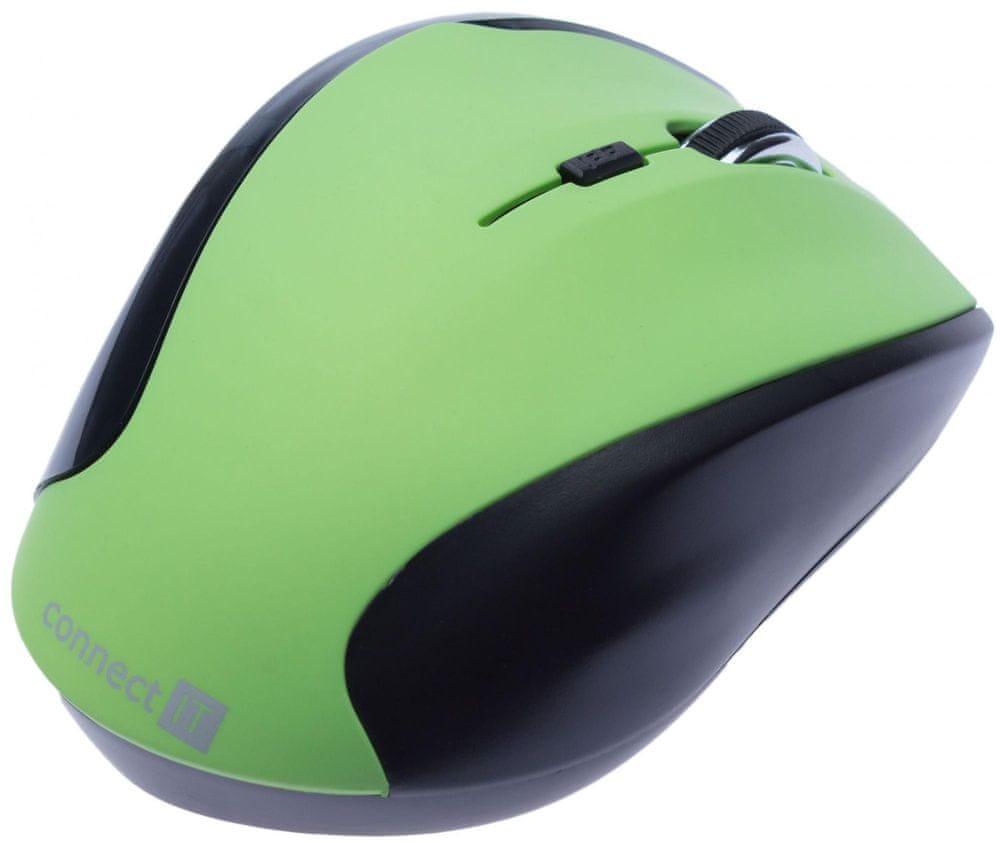 Connect IT CI-158 bezdrátová optická myš, zelená