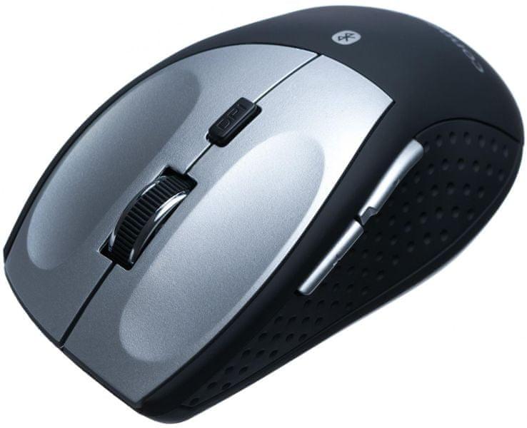 Connect IT CI-189 bluetooth laserová myš MB2000, černo-stříbrná
