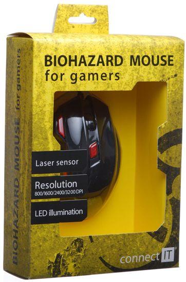 Connect IT mysz gamingowa (CI-191), czarny