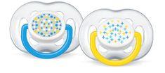 Avent šidítko SENSITIVE FANTAZIE 6-18m., 2ks - modrá/žlutá