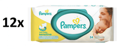 Pampers Obrúsky Sensitive 12 × 54 ks