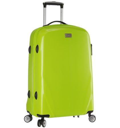 Sirocco Cestovný kufor  T-924/3-70 PC zelená
