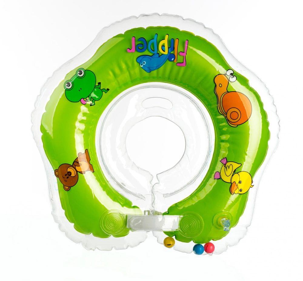BabyRing Flipper plavací nákrčník zelená