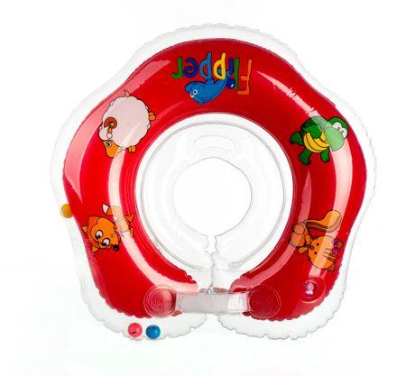 aee03cf590d Teddies BABY Plávací nákrčník Flipper červený