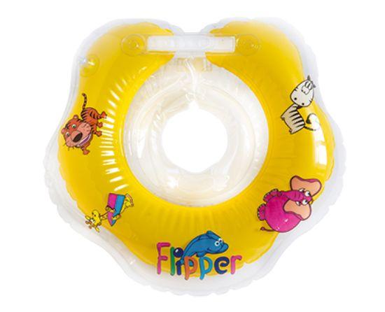 Teddies BABY Kółko do pływania dla niemowląt Flipper żółte