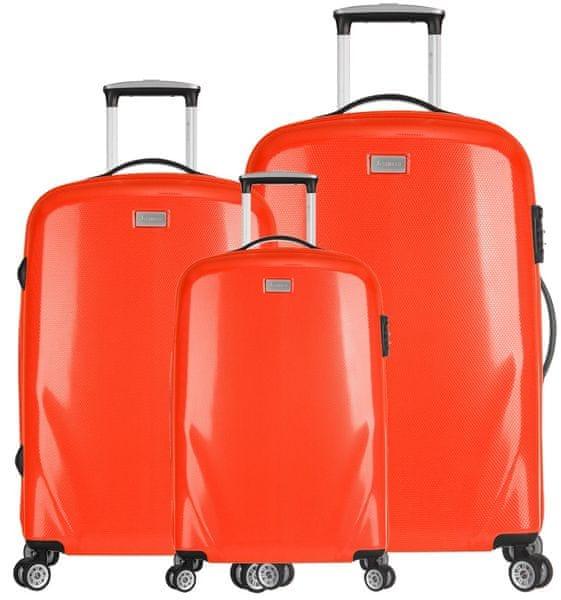 Sirocco Cestovní kufry sada T-924/3 PC oranžová