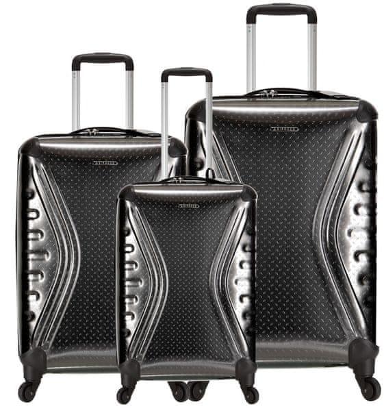 Sirocco Cestovní kufry sada T-1079/3 PET - metallic