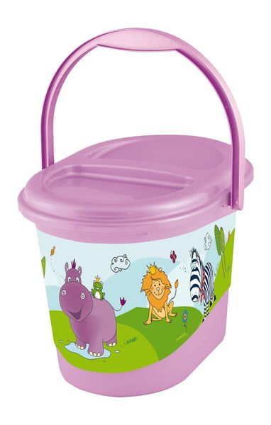 OKT Koš na pleny Hippo, světle fialová