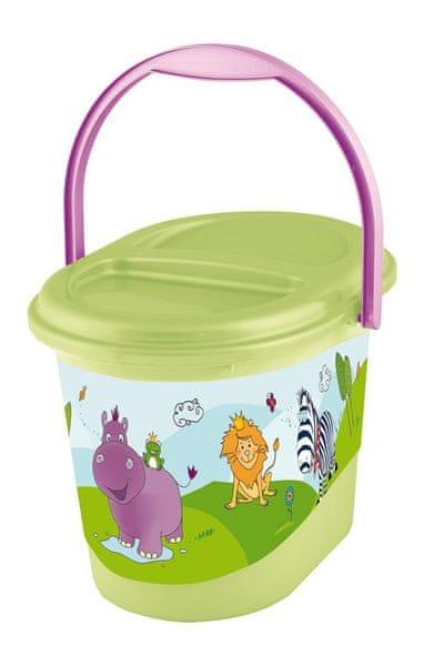 OKT Koš na pleny Hippo, zelená