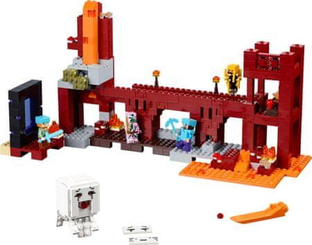 LEGO lego-Minecraft 21122 Utrdba v Netherju - odprta embalaža