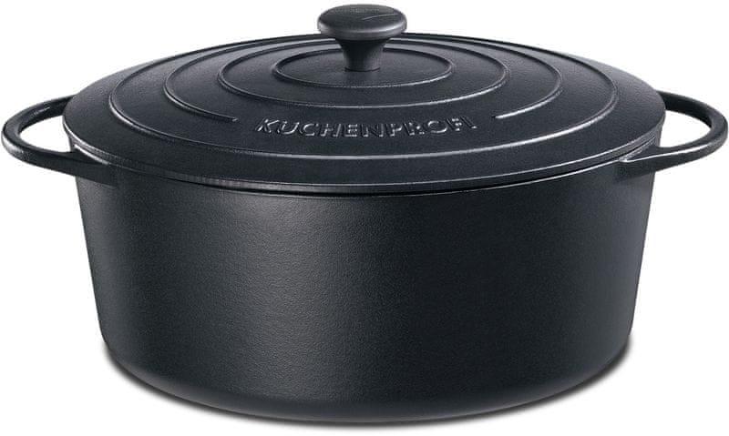 Küchenprofi Hrnec na pečení Provence oválný černý, 33 cm