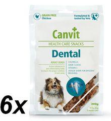 Canvit suplement diety dla psa Snacks Dental - 6x 200 g