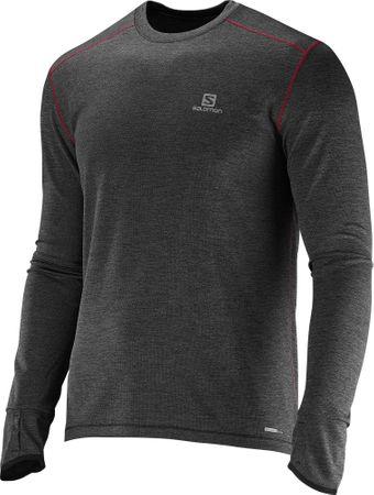 Salomon majica s dugim rukavima Park Ls Tee M, muška, crna, L