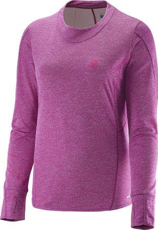 Salomon majica z dolgimi rokavi Park Ls Tee W, ženska, vijolična, S