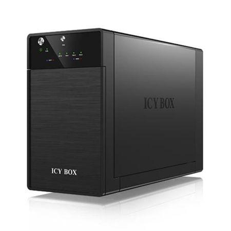 "IcyBox zunanje ohišje za 2 diska 8,89 cm (3,5"") SATA IB-3602U3, USB 3.0, JBOD, črno"