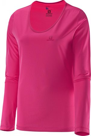 Salomon Mazy Ls Tee W Hot Pink M