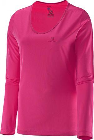 Salomon majica z dolgimi rokavi Mazy Ls Tee W, ženska, roza, S
