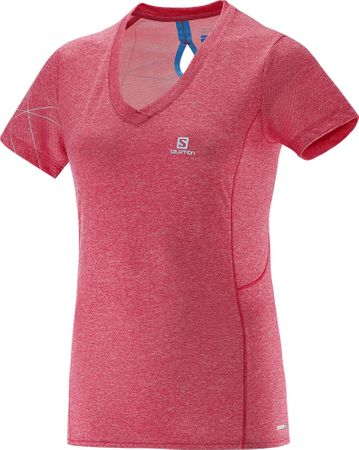 Salomon majica s kratkimi rokavi Park, ženska, roza, XL