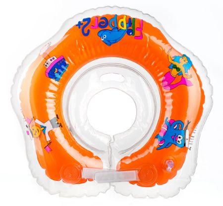 Teddies BABY Kółko do pływania dla niemowląt Flipper pomarańczowe