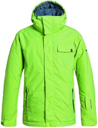 Quiksilver Mission Plain Youth B Green Gecko L/14