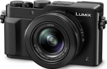 Panasonic aparat cyfrowy Lumix DMC-LX100EP-K, czarny