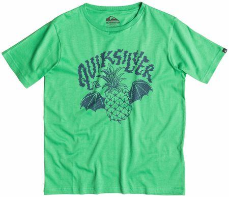 Quiksilver majica s kratkimi rokavi Classtyflyingpi, otroška, zelena, M/12