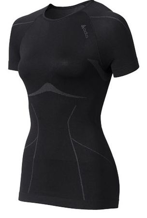 ODLO majica s kratkimi rokavi Evolution Light, ženska, črna, XL