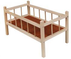 Lamps drewniane łóżeczko dla lalek 50 cm