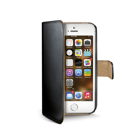 CELLY Puzdro Wally, Apple iPhone 5/5S, čierne