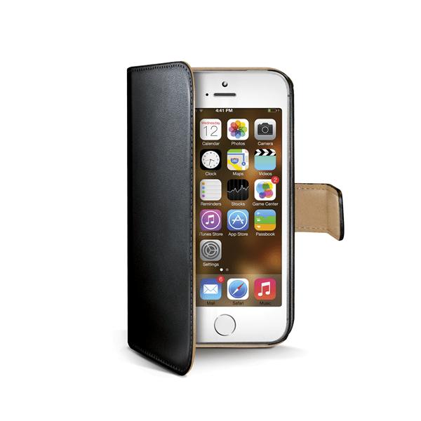 Celly Pouzdro Wally, Apple iPhone 5/5S, černé