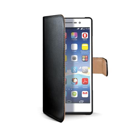 Celly Pouzdro Wally, Huawei P8 Lite, černé