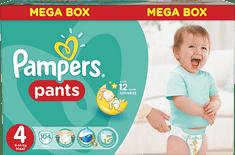Pampers Active Baby Pants Maxi - Mega Box (104 szt.)