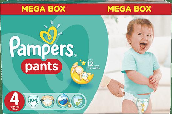 Pampers Pieluchomajtki Pants 4 Maxi (9-15 kg) Mega Box 104 szt.