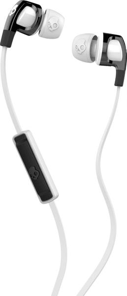 Skullcandy Smokin Buds 2.0 s mikrofonem, bílá/černá