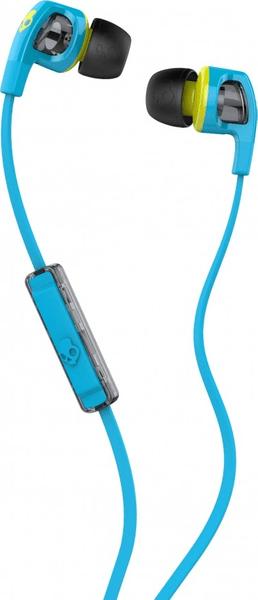 Skullcandy Smokin Buds 2.0 s mikrofonem, modrá/zelená