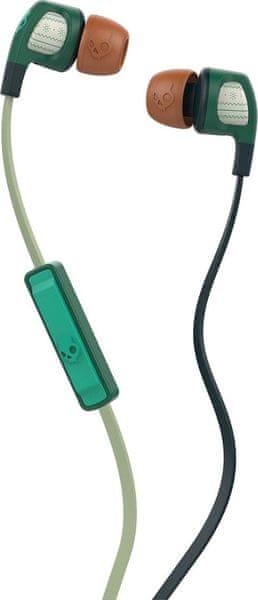 Skullcandy Smokin Buds 2.0 s mikrofonem, tmavě zelená