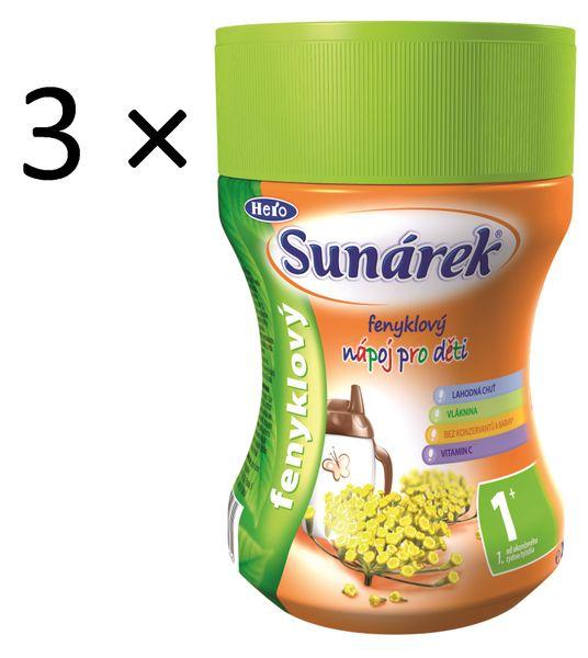 Sunárek Instantní nápoj fenyklový, 3×200g
