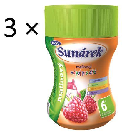Sunárek Instantní nápoj malinový, 3×200g