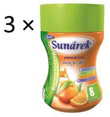 Sunárek Pomarančový nápoj, 3 x 200g