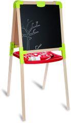 Smoby Dřevěná tabule na kreslení 2v1, stojací