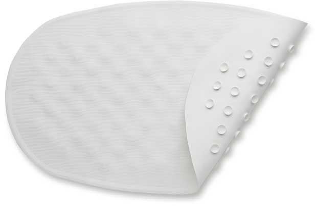 BabyDan Protiskluzová podložka do vany ovál, bílá 23×40 cm