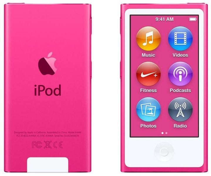 Apple iPod Nano / 16GB - 7. generace, růžová