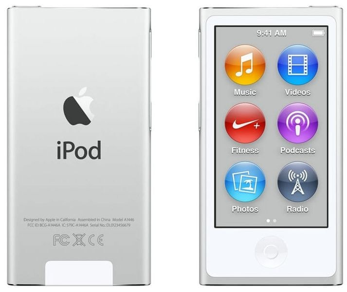 Apple iPod Nano / 16GB - 7. generace, stříbrná