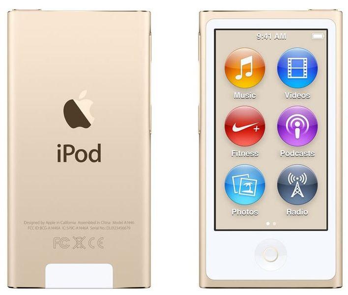 Apple iPod Nano / 16GB - 7. generace, zlatá
